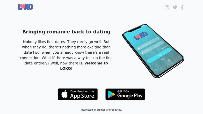 LOKO Landing Page