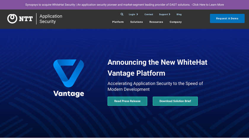 WhiteHat Security Landing Page