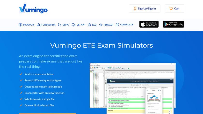 Vumingo Landing Page
