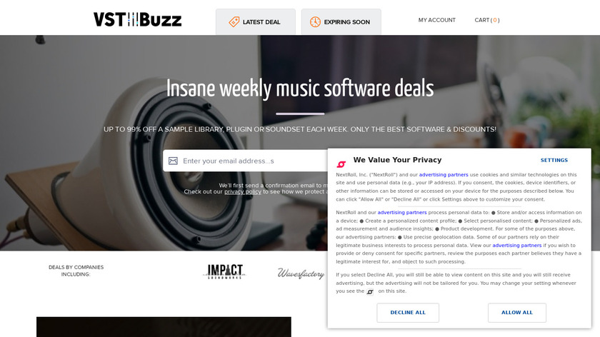 VST Buzz Landing Page