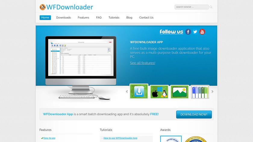WFDownloader App Landing Page