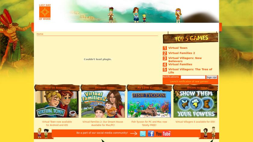 Virtual Families 2 Landing Page