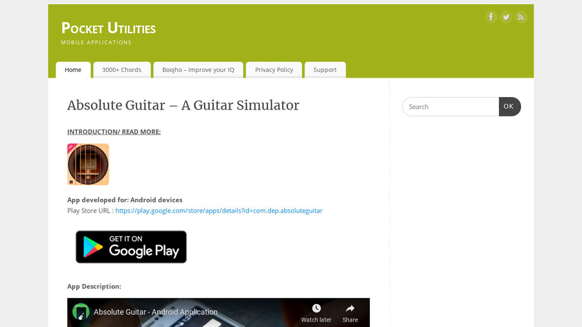 Absolute Guitar Landing Page