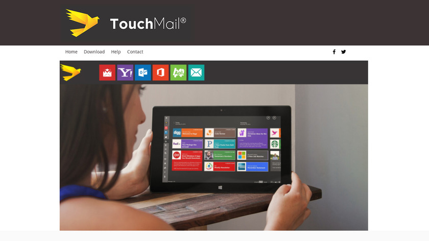 TouchMail Landing Page