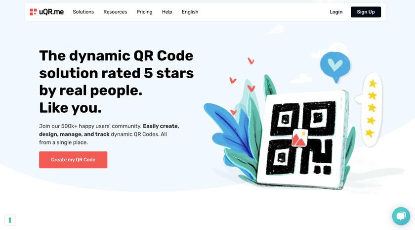 uQR.me Landing Page