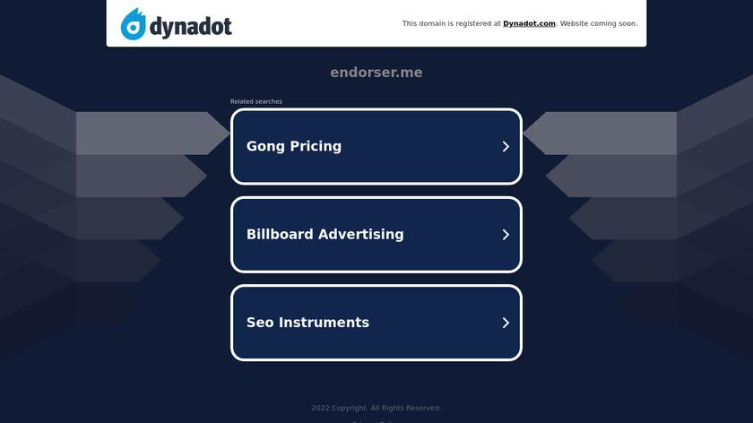 Endorser Landing Page