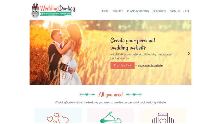 Wedding Donkey Landing Page