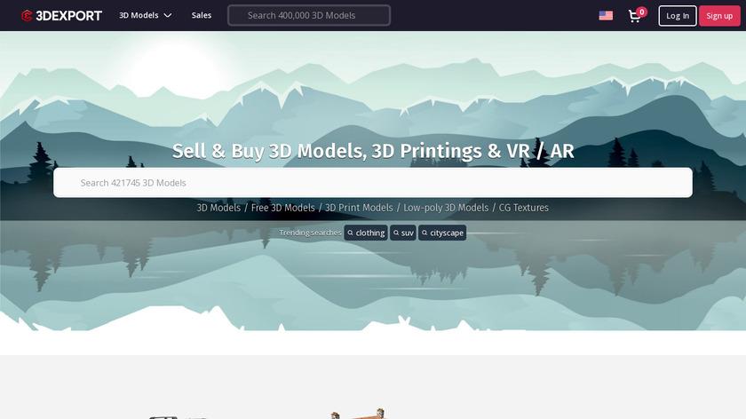 3DExport Landing Page