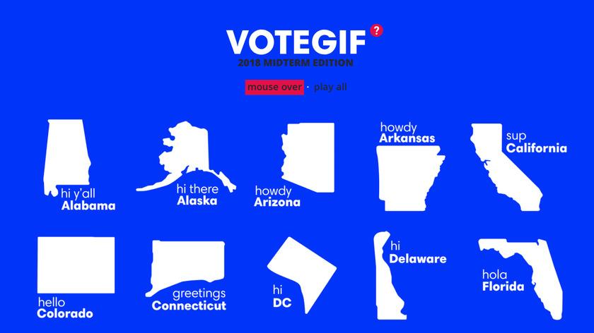 VoteGif Landing Page