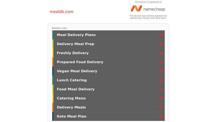 MealDB Landing Page