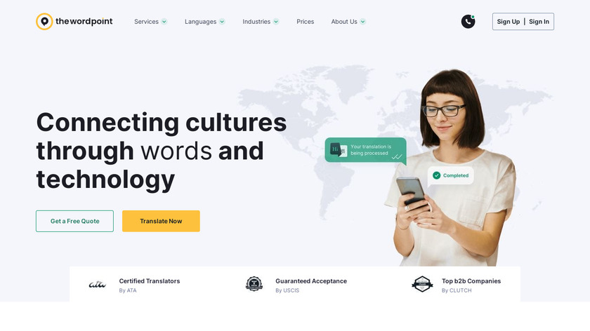 The Word Point Landing Page