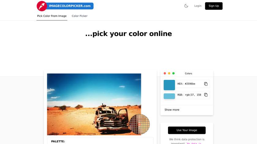 ImageColorPicker.com Landing Page