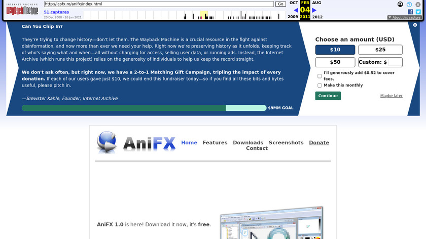 AniFX Landing Page