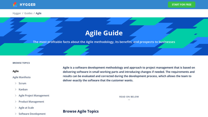 Agilo for Scrum Landing Page