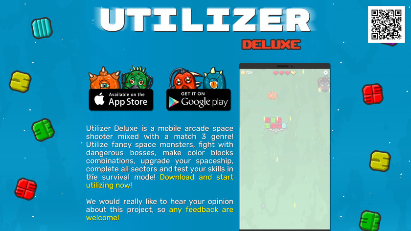 Utilizer Deluxe Landing Page
