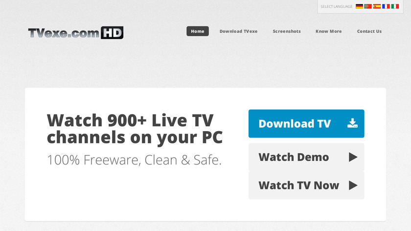 TVexe Landing Page