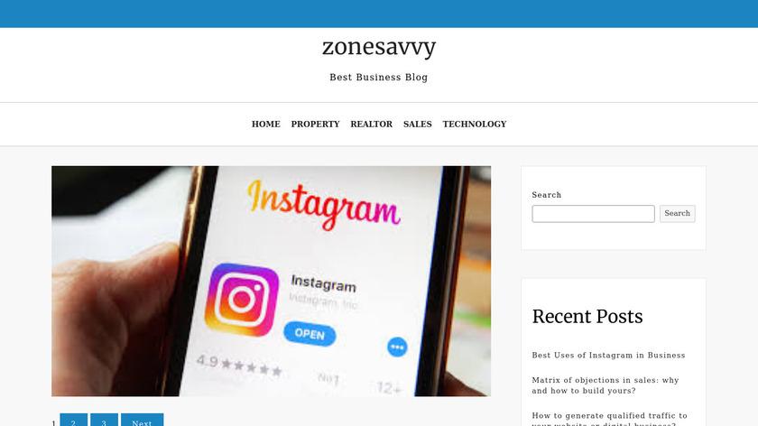 ZoneSavvy Landing Page