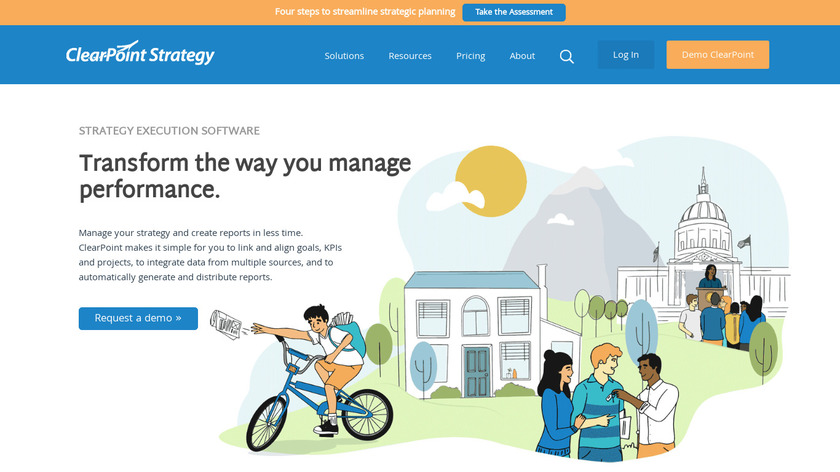 ClearPoint Strategy Landing Page