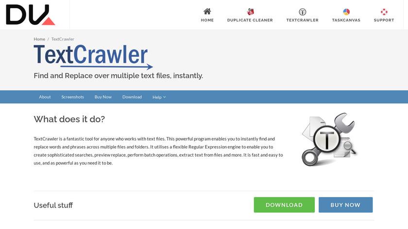 TextCrawler Landing Page