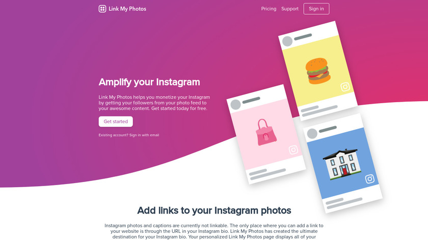 Link My Photos Landing Page