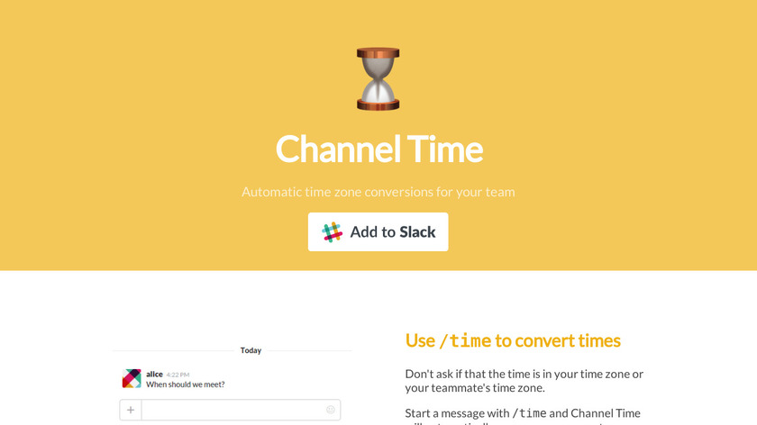 Channel Time Landing Page