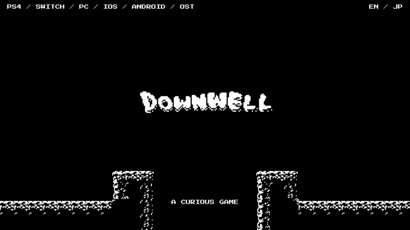 Downwell Landing Page