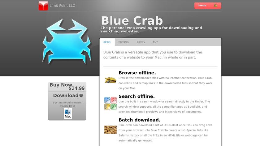 Blue Crab Landing Page