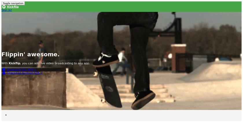 Kickflip Landing Page