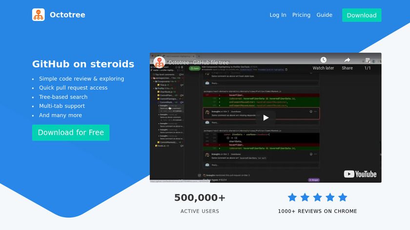 Octotree Landing Page
