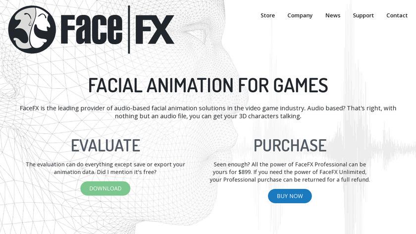 FaceFX Landing Page