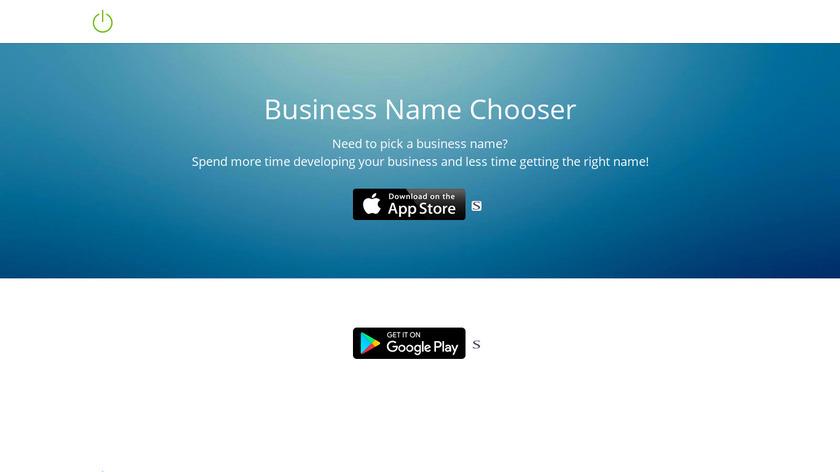 Business Name Chooser Landing Page
