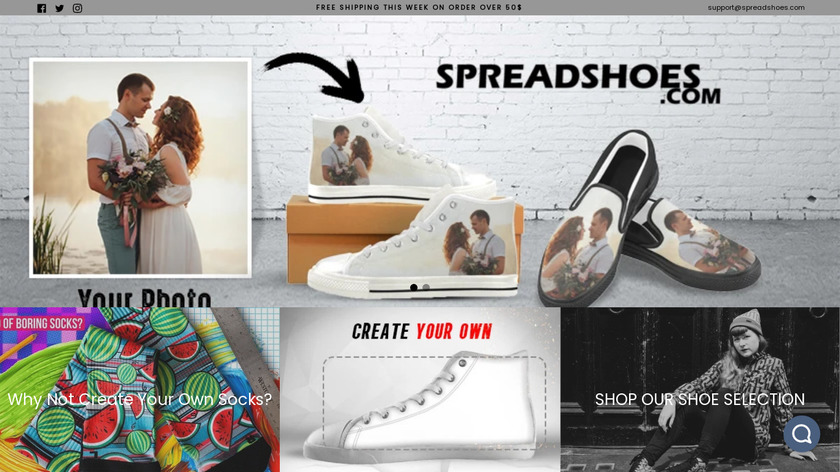 Spread Shoes Landing Page
