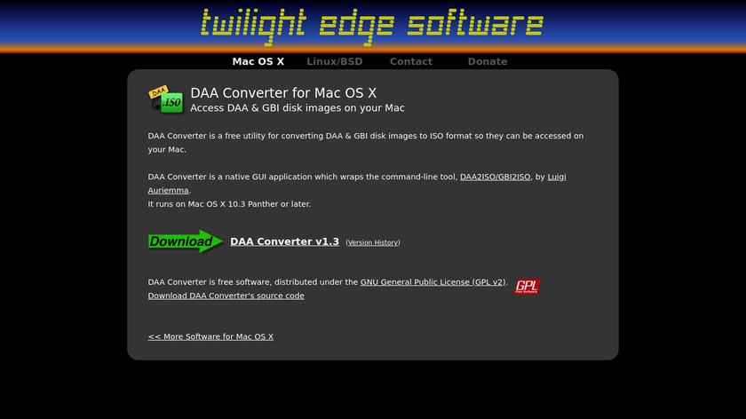 DAA Converter Landing Page