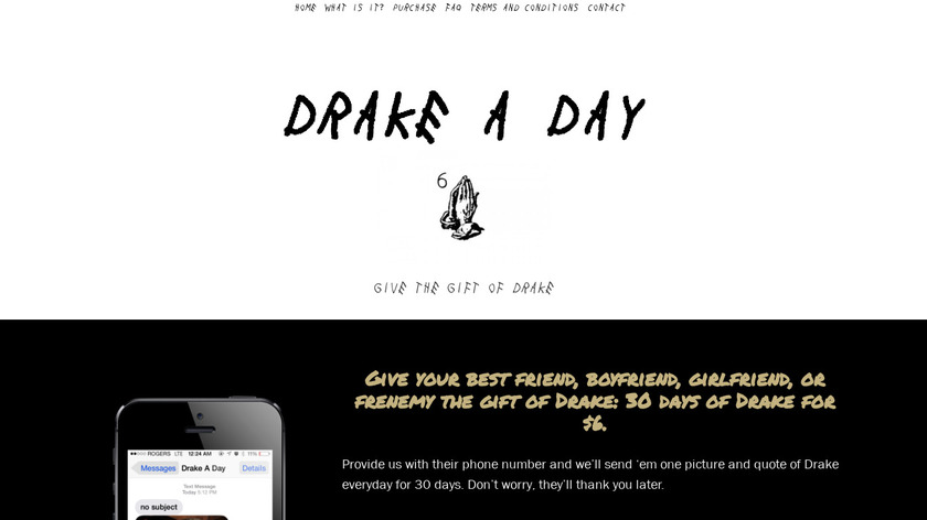 Drake A Day Landing Page