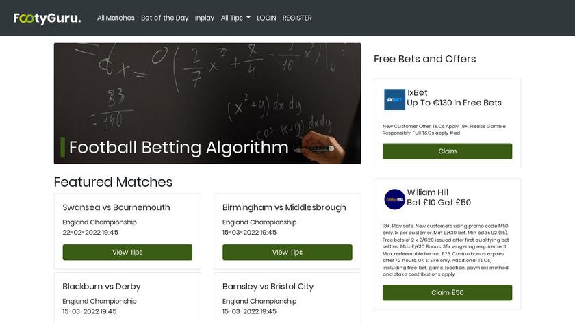 FootyGuru365 Landing Page