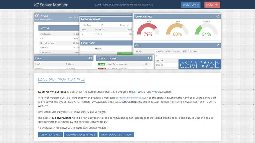 eZ Server Monitor Landing Page