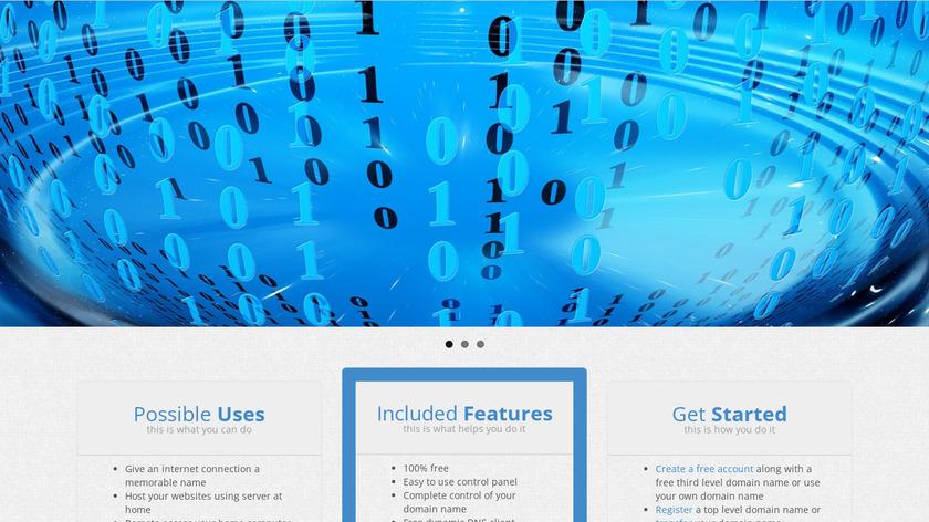 Dynu Dynamic DNS Landing Page