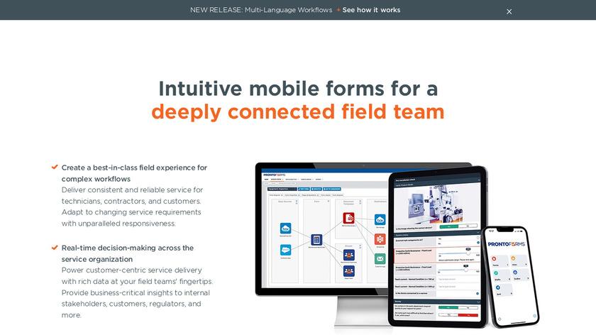 ProntoForms Landing Page