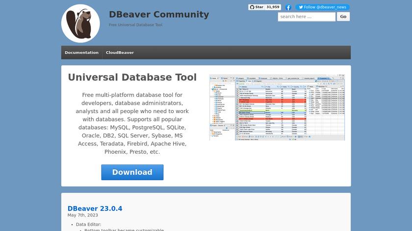DBeaver Landing Page