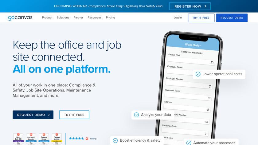 GoCanvas Landing Page