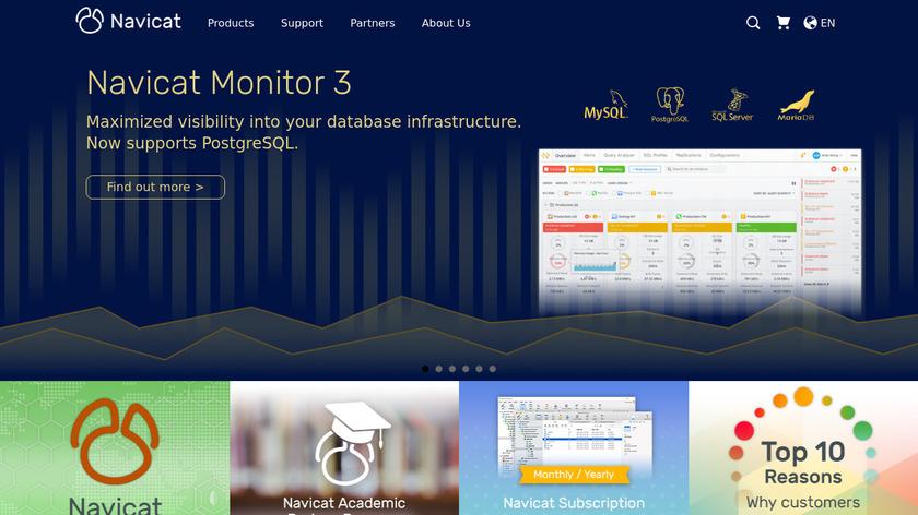 Navicat Landing Page