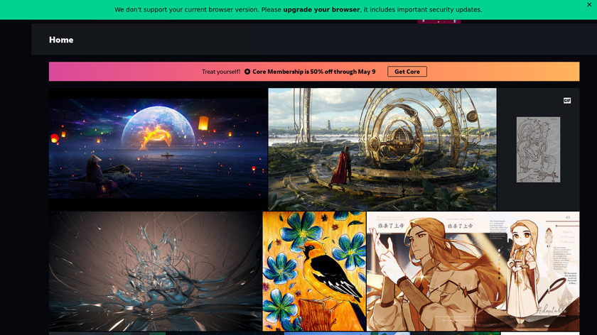 DeviantArt Landing Page