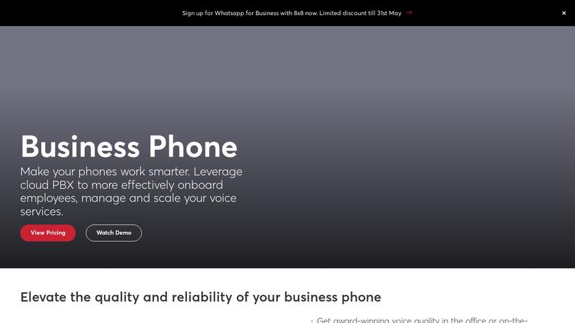 8x8 Virtual Office Landing Page