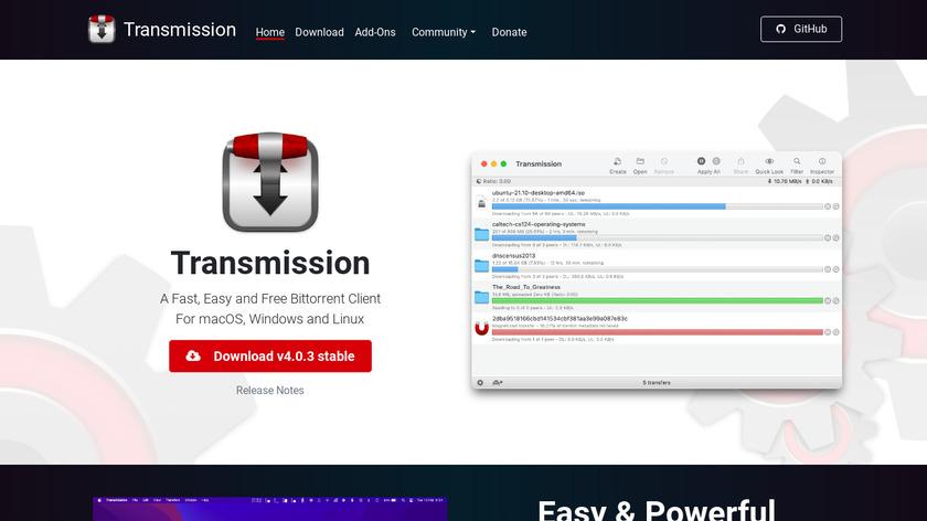 Transmission Landing Page