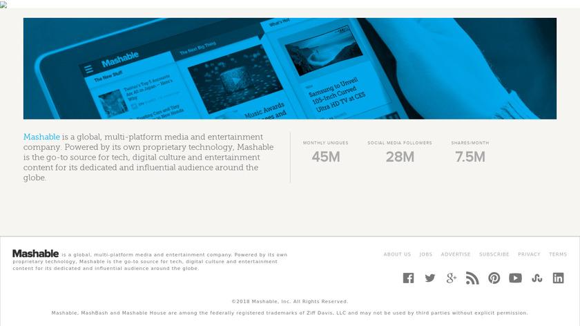 Mashable Landing Page