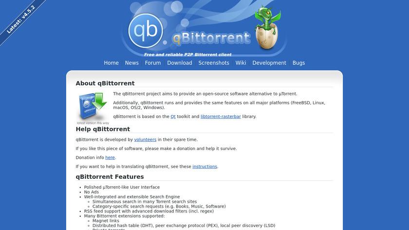 qBittorrent Landing Page