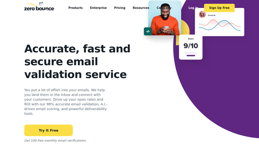 ZeroBounce Landing Page