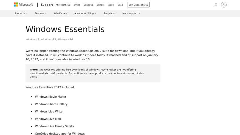 Windows Live Photo Gallery Landing Page