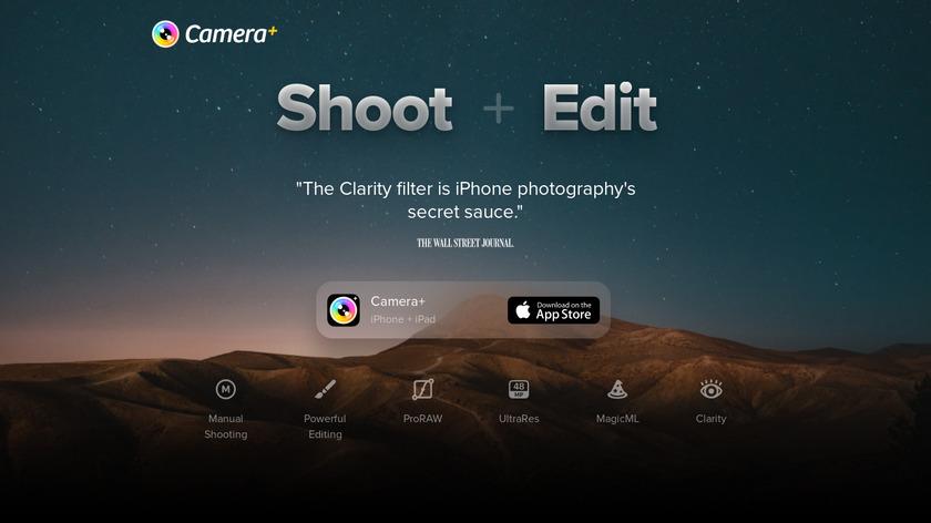 Camera+ Landing Page