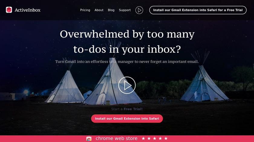 ActiveInbox Landing Page